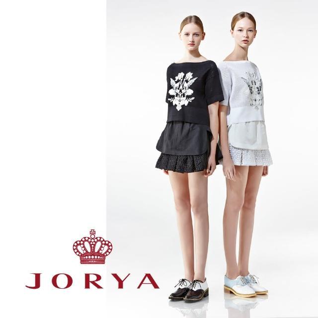 【JORYA】weekendH2000402簍空雕花襯雙層百褶短裙