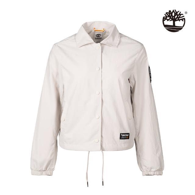 【Timberland】女款白沙色工裝教練外套(A2GEFBH7)