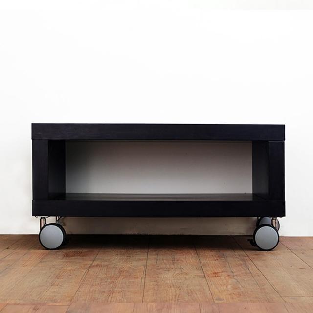 【職人家居】可移動滾輪電視櫃80cm單格款-1096(電視櫃 置物櫃 木質收納櫃)