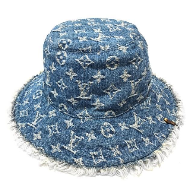 【Louis Vuitton 路易威登】M77022 牛仔漁夫帽(藍色)