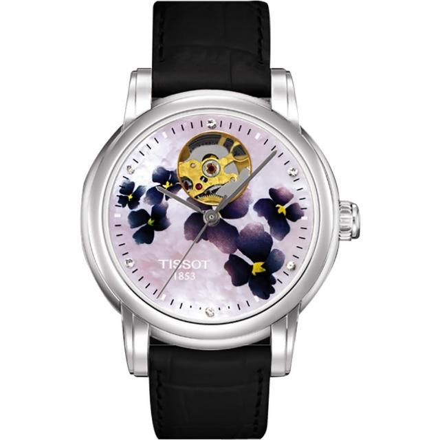 【TISSOT 天梭】Lady Heart 心動了鏤空機械腕錶-35mm(T0502071610600)