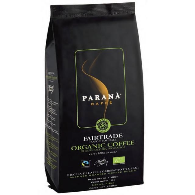【PARANA 義大利金牌咖啡】精品咖啡新鮮烘焙 有機公平交易咖啡豆 96公斤(有機認證、公平交易認證)