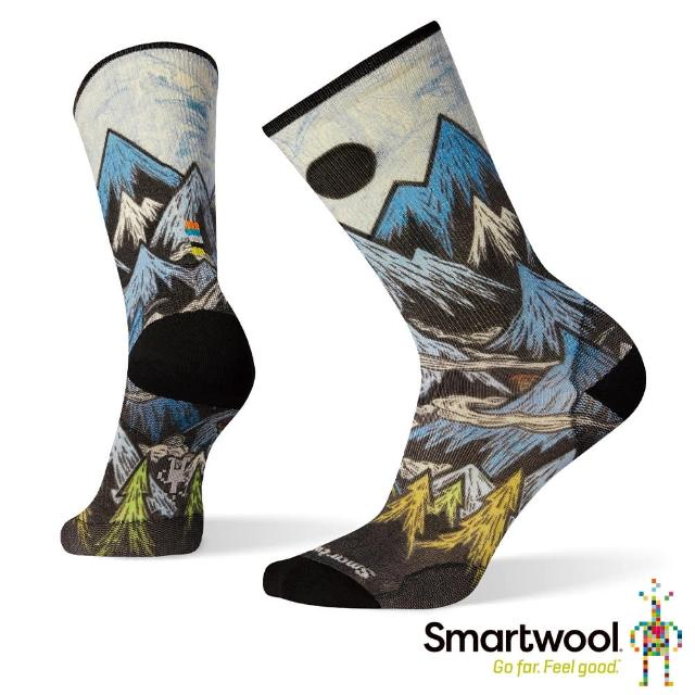 【SmartWool】男 Print系列中長襪-Mountain Ventures(彩色)