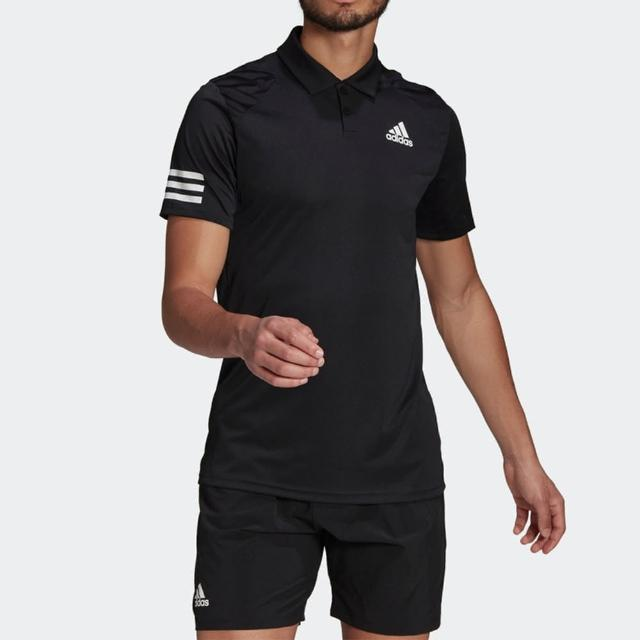 【adidas 愛迪達】Adidas Club 3str Polo 男 Polo 短袖 運動 休閒 網球 舒適 透氣 黑(GL5421)