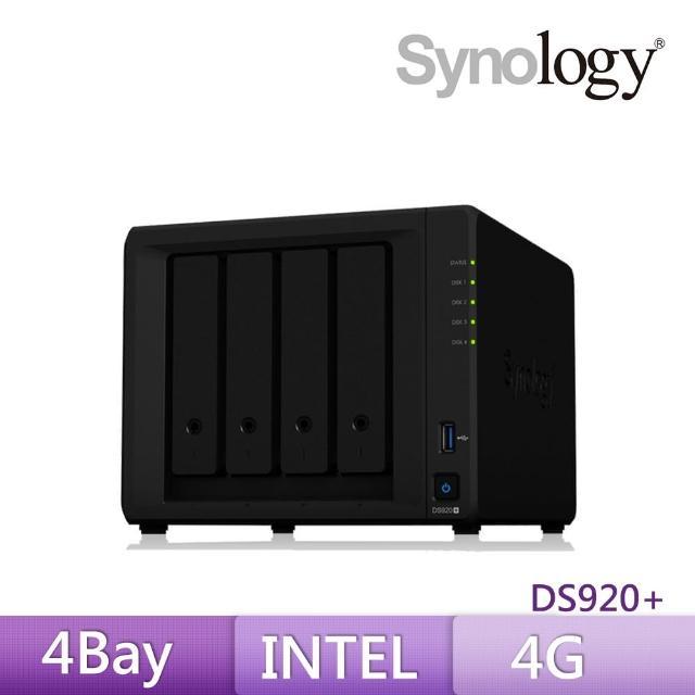 【搭CyberPower 1000VA在線互動式UPS+希捷 8TB x2】Synology 群暉科技 DS920+ 4Bay 網路儲存伺服器