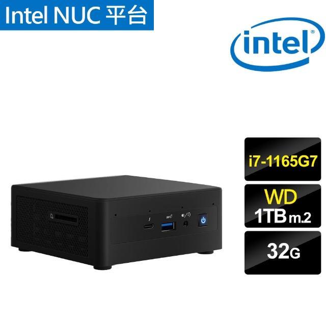 【Intel 英特爾】NUC平台{暴雪王者} i7四核迷你電腦(i7-1165G7/32G/1TB m.2)