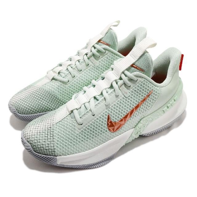 【NIKE 耐吉】籃球鞋 Ambassador XIII 運動 男鞋 明星款 LBJ 氣墊 避震 包覆 球鞋 綠 米白(CQ9329-300)