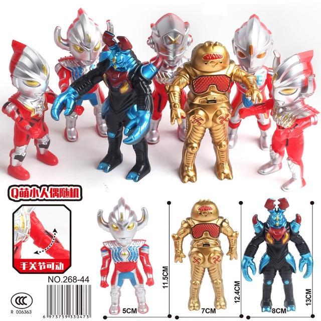 【TDL】超人力霸王鹹蛋超人奧特曼超人怪獸模型公仔人偶收藏玩具8件組 330473