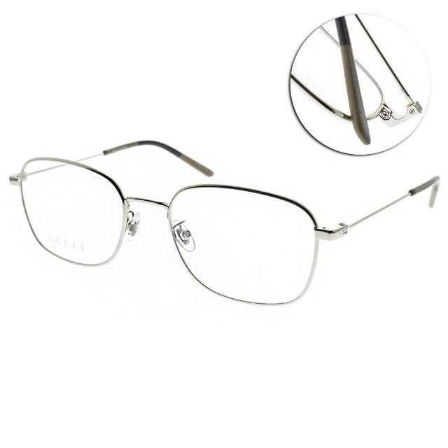 【GUCCI 古馳】光學眼鏡 時尚方框款(銀#GG0685OA 004)