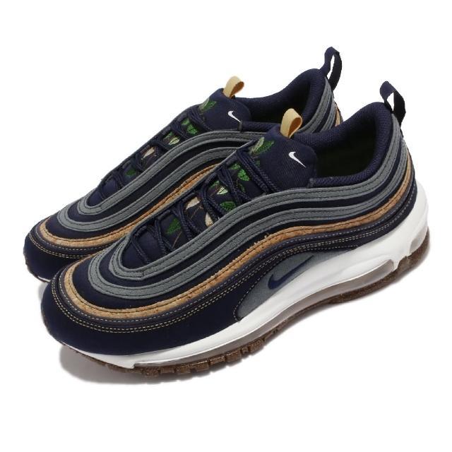 【NIKE 耐吉】休閒鞋 Air Max 97 SE 運動 男鞋 鞋舌植物刺繡 氣墊避震 帆布 軟木 藍 白(DC3986-300)