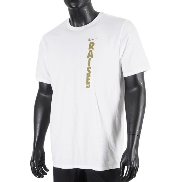 【NIKE 耐吉】Nike Training Tee 男 短袖 T恤 運動 訓練 休閒 舒適 排汗 白(561416100WLRS)