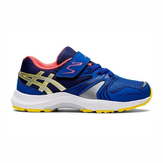 【asics 亞瑟士】Asics Lazerbeam Ka-mg 中童 慢跑鞋 運動 休閒 保護 支撐 緩衝 藍(1154A109-402)