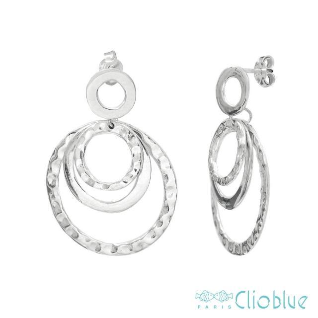 【CLIO BLUE】刻紋3圈耳環(法國巴黎品牌/925純銀)