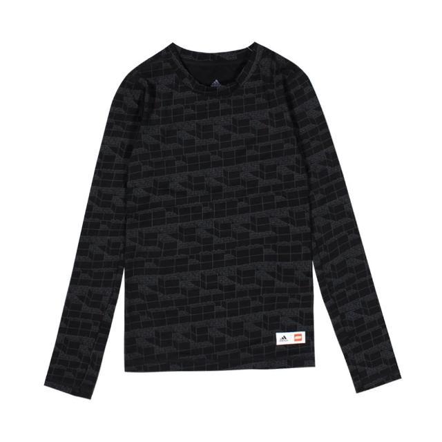 【adidas 愛迪達】圓領T恤 長袖 U LEGO LS TEE 大童-GN6778