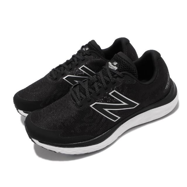 【NEW BALANCE】慢跑鞋 M680 V7 Wide 寬楦 男鞋 紐巴倫 路跑 緩震 耐磨膠底 運動休閒 黑 白(M680LB7-2E)