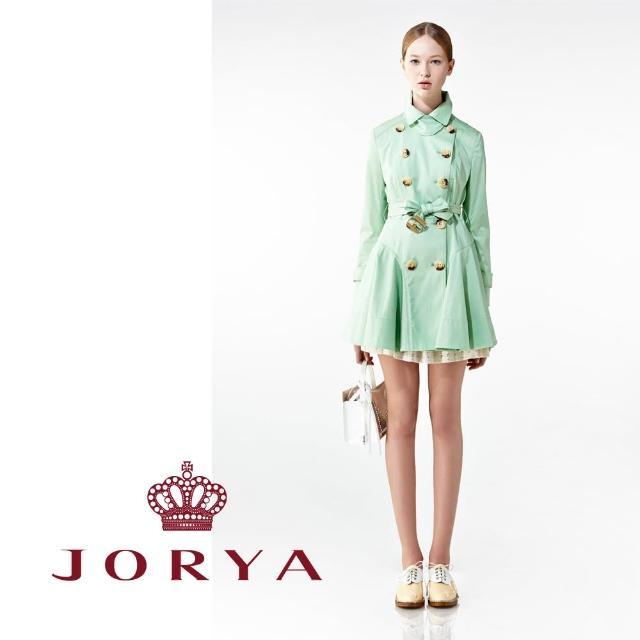 【JORYA】weekendH2001705挺版洋裝式造型附腰帶風衣外套