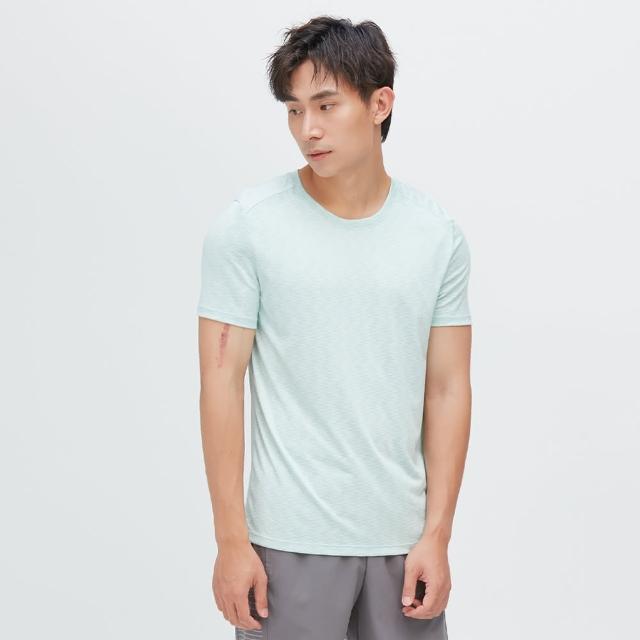 【VOUX】Ultracool-涼感吸排剪接上衣(湖水綠M-XL)