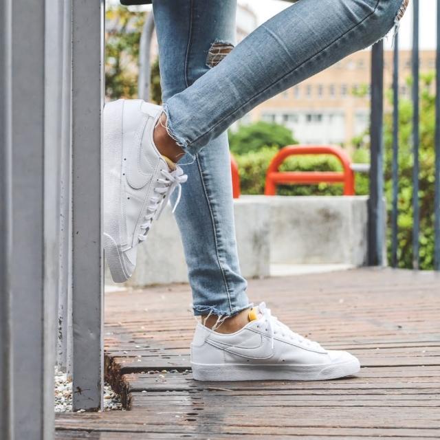 【NIKE 耐吉】休閒鞋 Blazer Low 77 運動 女鞋 經典款 復古 小白鞋 橡膠外底 穿搭 全白(DC4769-101)