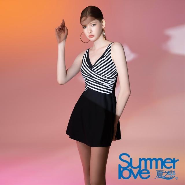 【Summer Love 夏之戀】泳衣 大女連身裙二件式(E21702)