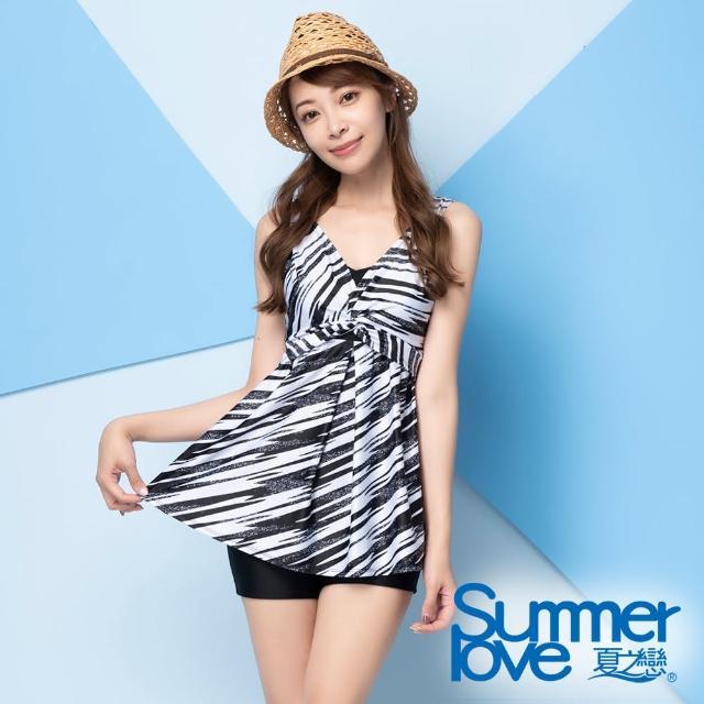 【Summer Love 夏之戀】泳衣 大女長版二件式-加大(E21704-05)