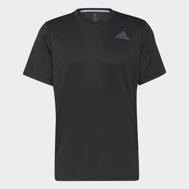 【adidas 愛迪達】上衣 男款 短袖上衣 運動 慢跑 HEAT RDY TEE 黑 H13218 亞洲尺寸