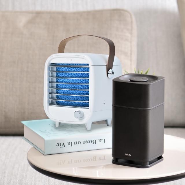 【Roommi】迷你空調冰冷扇+AIR6 奈米光觸媒負離子 雙效空氣淨化器