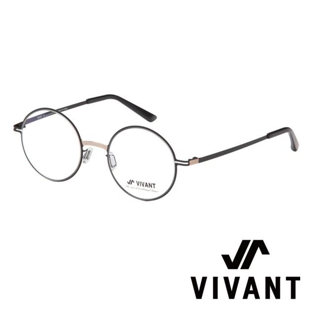 【VIVANT】韓國 正圓框 文青系列 光學眼鏡(.黑 primier-II C5)