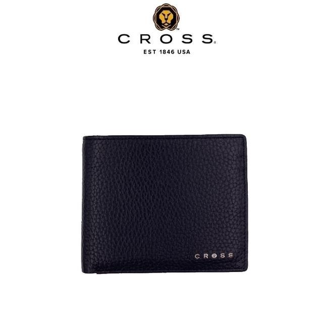 【CROSS】頂級小牛皮荔枝紋4卡1零錢袋皮夾 哈德森系列(附原廠送禮提袋)