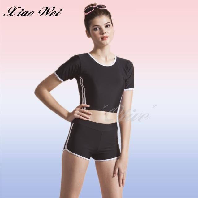 【小薇的店】泳之美品牌時尚大女二件式短袖泳裝(NO.281608)