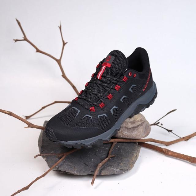 【MERRELL】戶外鞋 Fiery 運動 低筒 男款 登山 越野 耐磨 透氣 舒適 黑 紅(ML99619)