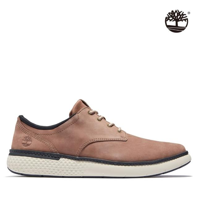 【Timberland】男款淺咖啡色磨砂革牛津休閒鞋(A2GWED69)