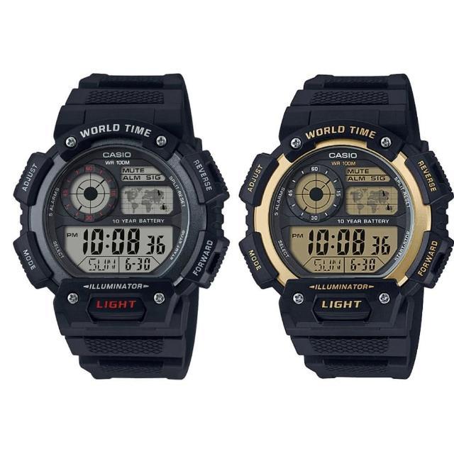【CASIO 卡西歐】多元STANDARD電子錶系列(AE-1400WH)