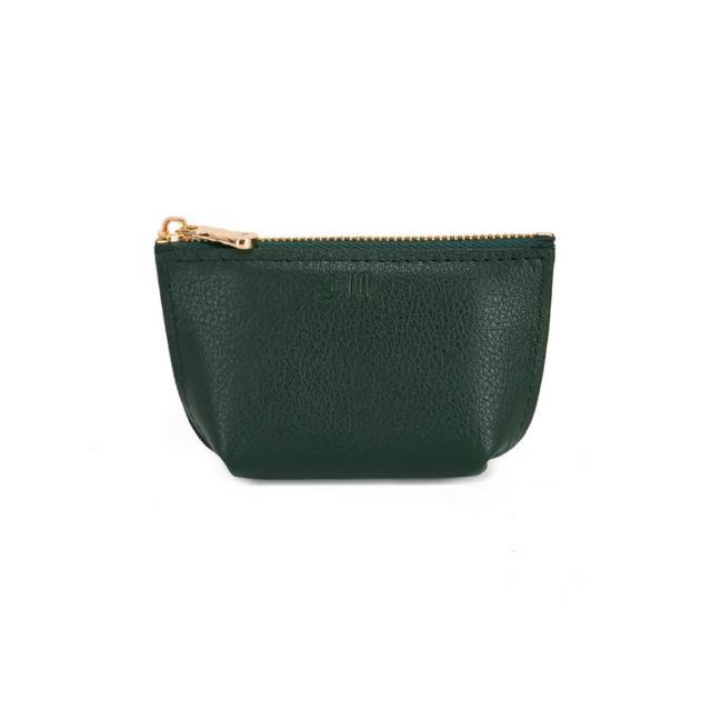 【J II】零錢包-輕巧牛皮零錢包-知性綠-3101-7(零錢包)