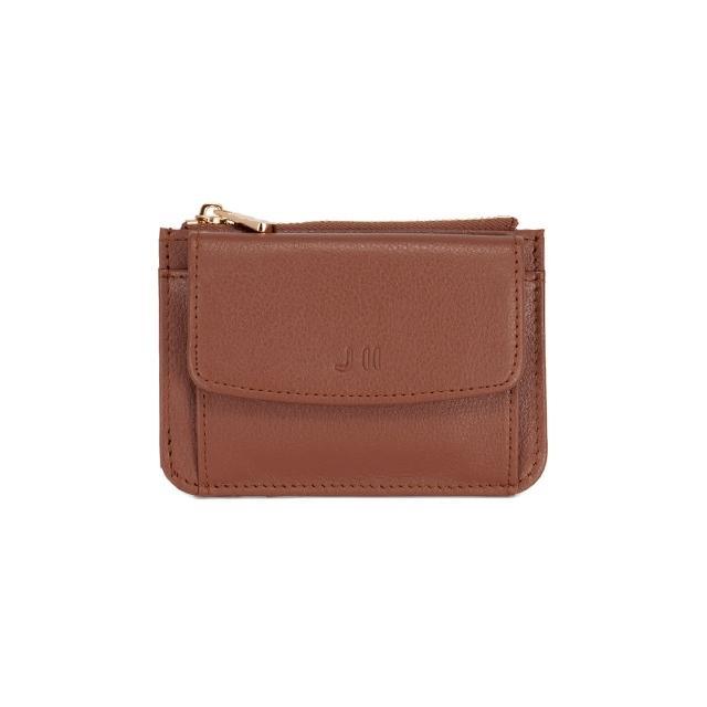 【J II】零錢包-口袋牛皮卡片零錢包-焦糖色-3102-5(零錢包)