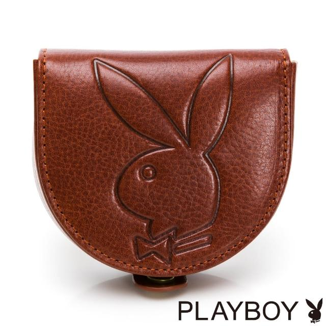 【PLAYBOY】零錢包 Mr. Rabbit系列(咖色)