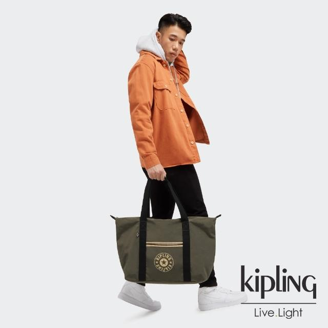 【KIPLING】深焙烏龍綠簡約手提肩背托特包-ART M LITE