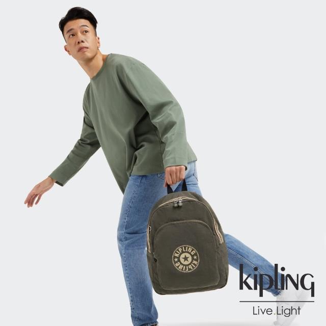 【KIPLING】深焙烏龍綠簡約手提後背包-CURTIS M