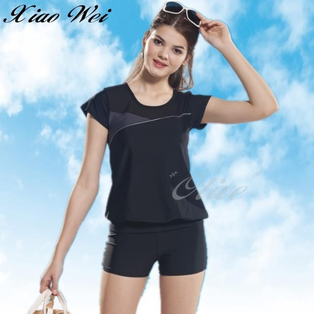 【小薇的店】泳之美時尚二件式短袖泳裝(NO.282068-4L)