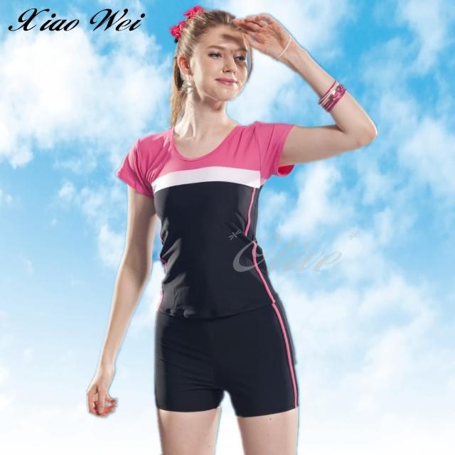 【小薇的店】泳之美品牌流行大女二件式短袖泳裝(NO.282358-3L)