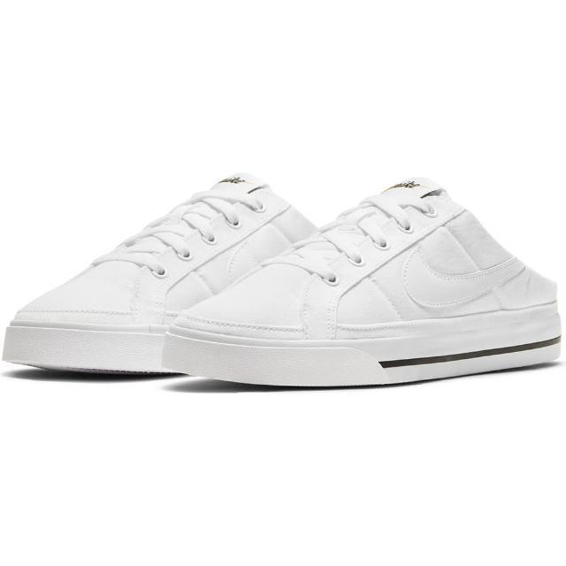 【NIKE 耐吉】休閒鞋 WMNS NIKE COURT LEGACY MULE 女鞋 白(DB3970100)