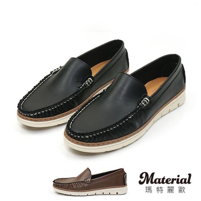 【MATERIAL】男鞋 簡約紳士休閒鞋 MA女鞋 T23803(懶人鞋)