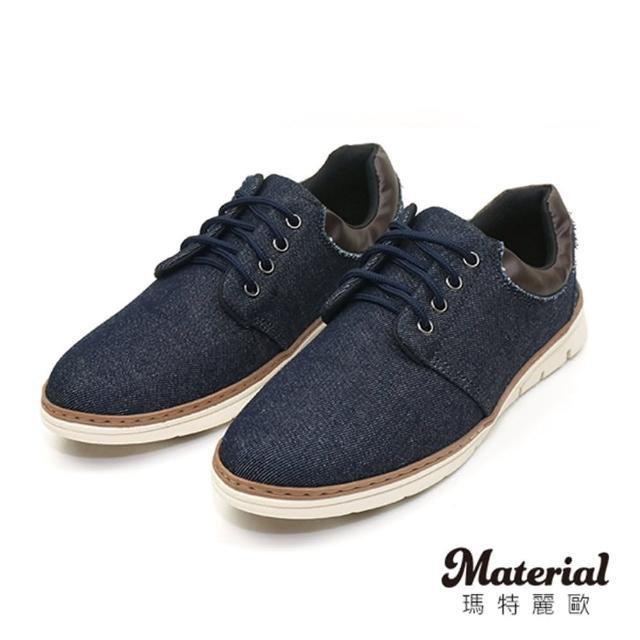 【MATERIAL】男鞋 拼接單寧休閒鞋 MA女鞋 T23804(懶人鞋)