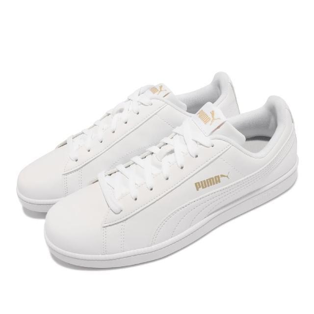 【PUMA】休閒鞋 Up 復古 基本款 女鞋 皮革鞋面 金標 穿搭 百搭 白 金(372605-07)