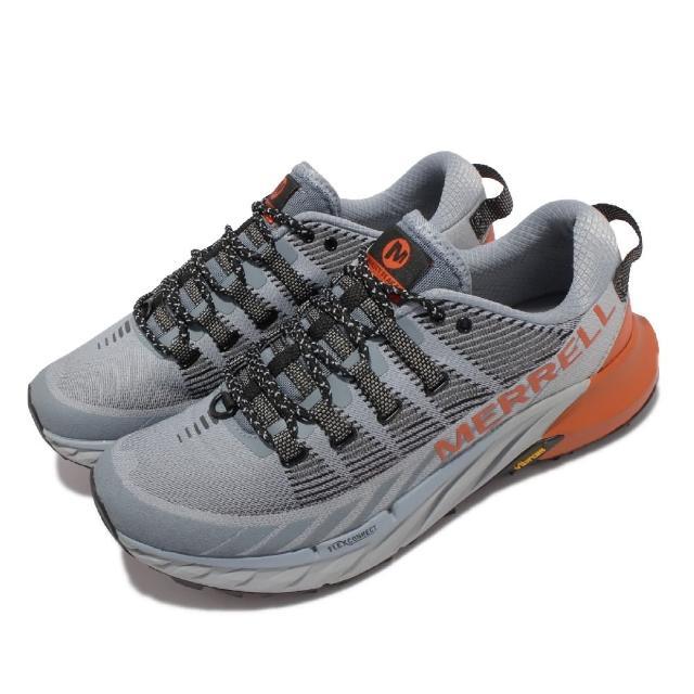 【MERRELL】慢跑鞋 Agility Peak 4 男鞋 彈性 支撐 回彈 耐磨 黃金大底 灰 橘(ML066829)