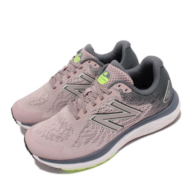【NEW BALANCE】慢跑鞋 680 V7 D 寬楦 緩震 女鞋 紐巴倫 高性價比 緩震 運動休閒 粉 白(W680LR7-D)