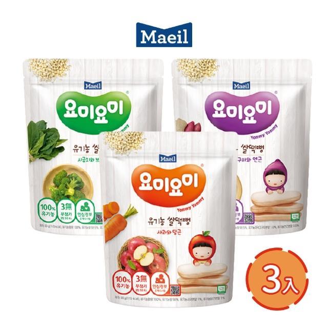 【韓國每日Maeil】大米米餅3入組合包(6個月以上幼兒適吃 100%無添加 來自大自然的健康零食)