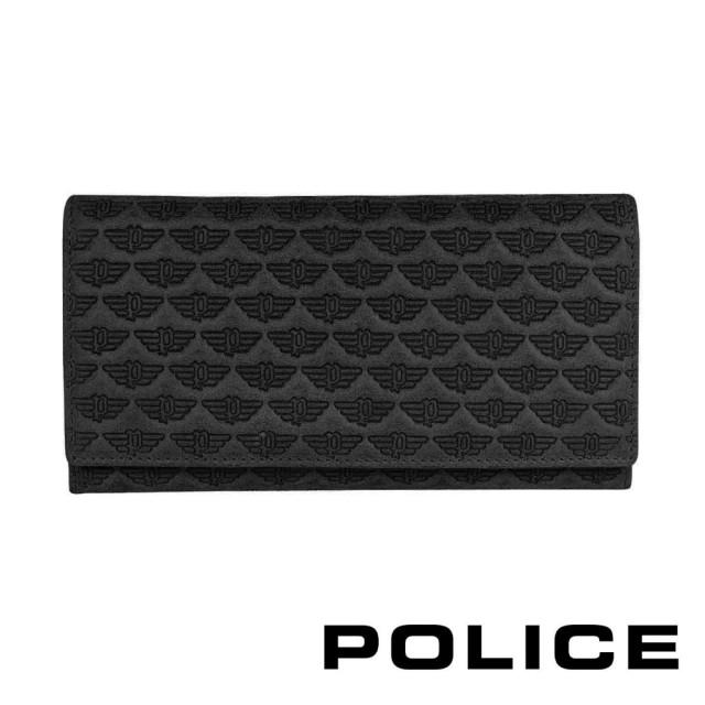 【POLICE】義大利潮牌 頂級小牛皮鈕扣翻蓋長夾(艾爾頓系列)