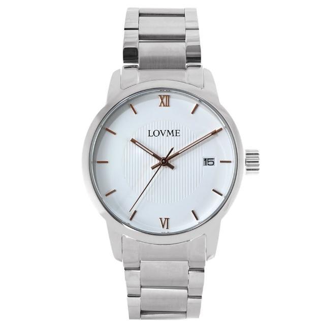 【LOVME】072紳士質感不鏽鋼日期手錶(VS0072M-2S-241)