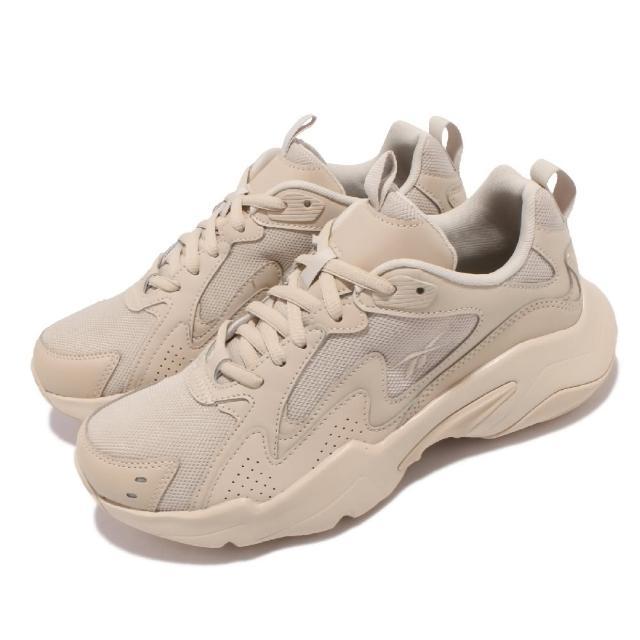 【REEBOK】休閒鞋 Royal Turbo Impuls 男女鞋 復古 厚底 休閒穿搭 避震 情侶款 卡其 米白(GW3266)