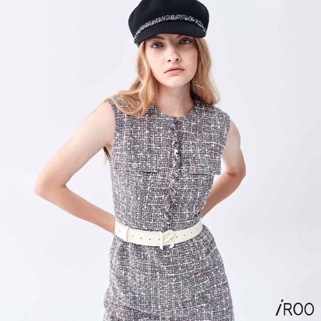 【iROO】花呢紗 背心洋裝